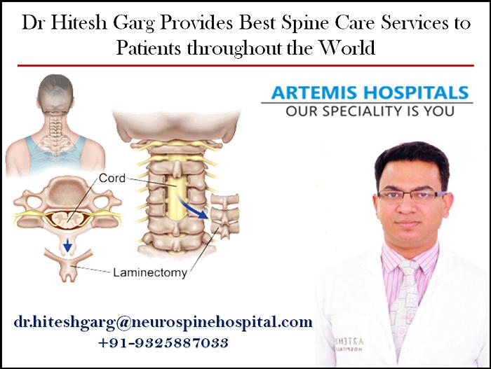 Dr Hitesh Garg Best Spine Surgeon Artemis Hospital Gurgaon
