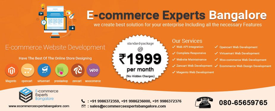 Ecommerce Experts Bangalore Company Design Eye Catchy Website