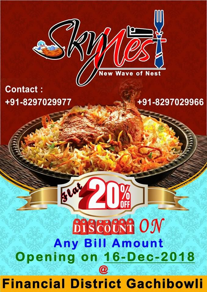 Hyderabadi Biryani in Gachibowli | Skynest