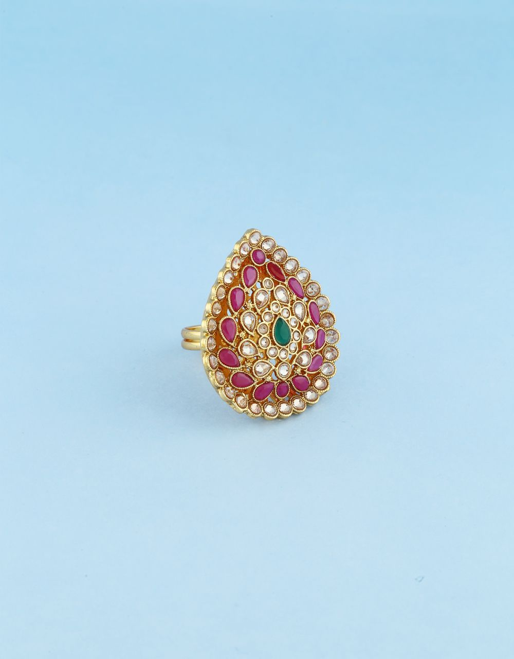 Buy ring design for girls at affordable price from Anuradha Art Jewellery