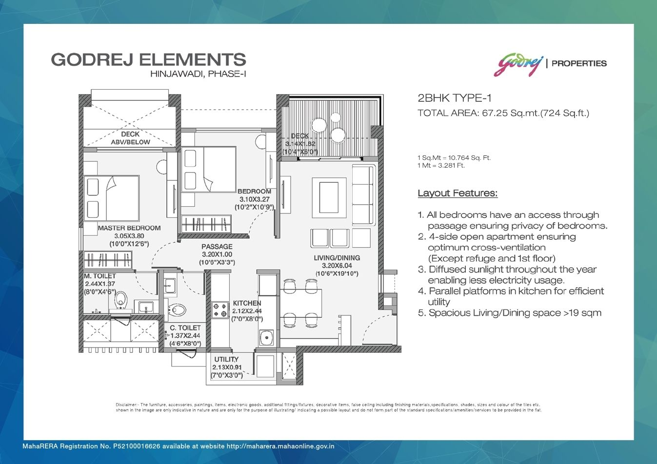Godrej Elements Hinjewadi Foor Plan