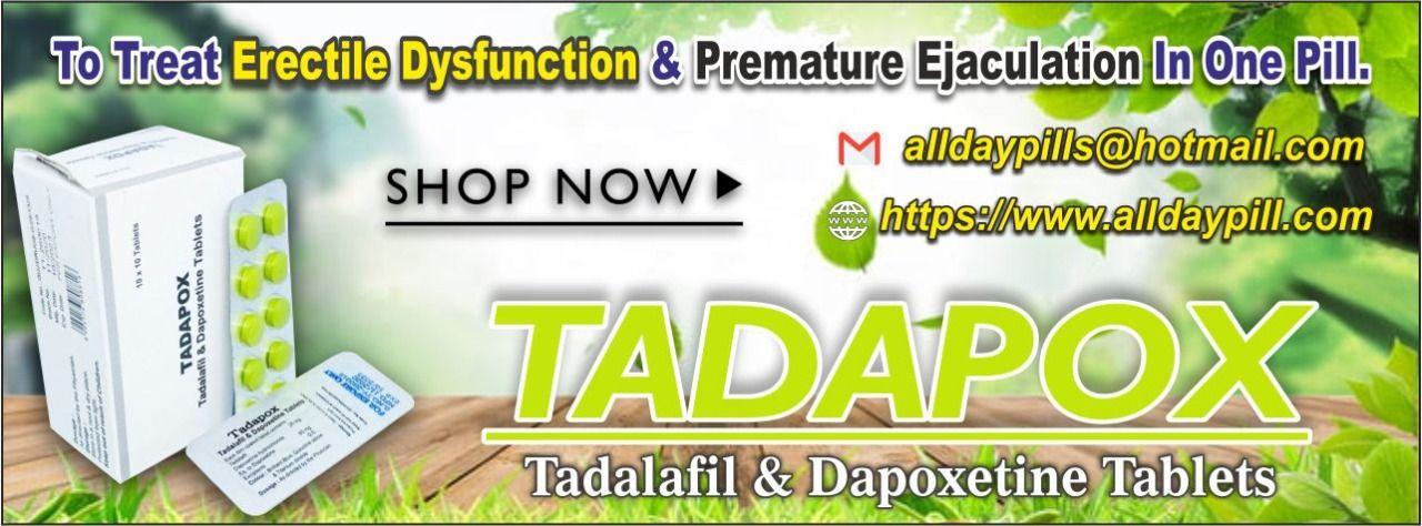 Tadalafil dapoxetine l Tadalafil 20mg Tablets