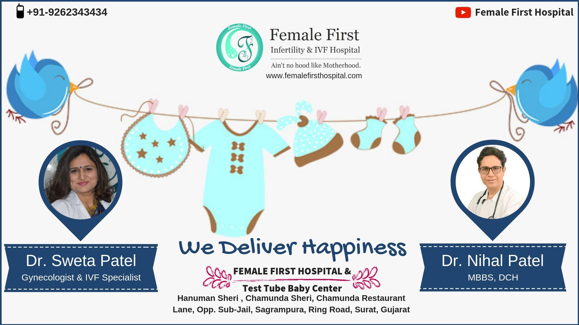 Affordable IVF treatment at Female First Hospital in Surat