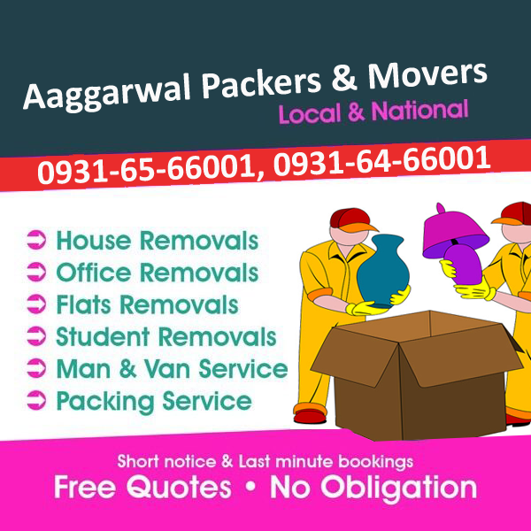 Aaggarwal Packers and Movers in Mohali - Fast and Friendly Services