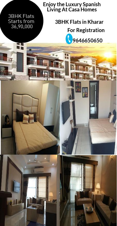 3bhk flats in kharar at Casa Homes