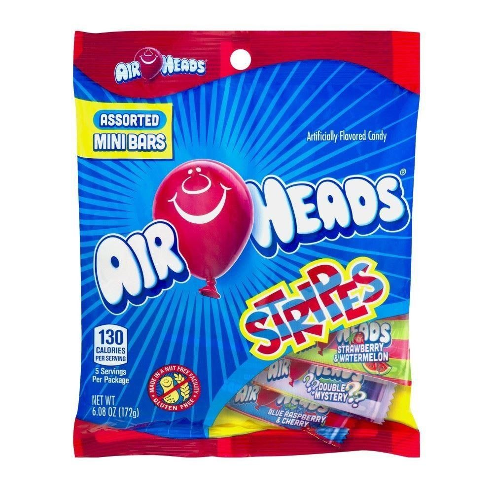 Air Heads Stripes Assorted Mini Bars 172g (6.08oz) (Box of 12)