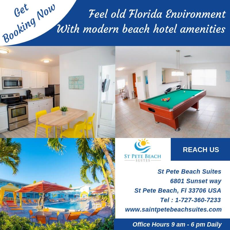 Get the best St Pete beach Florida hotel with modern beach hotel amenities