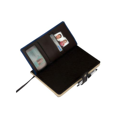 Premium Notebook with Card Holder, Bookmark, Pen Holder From Offiworld