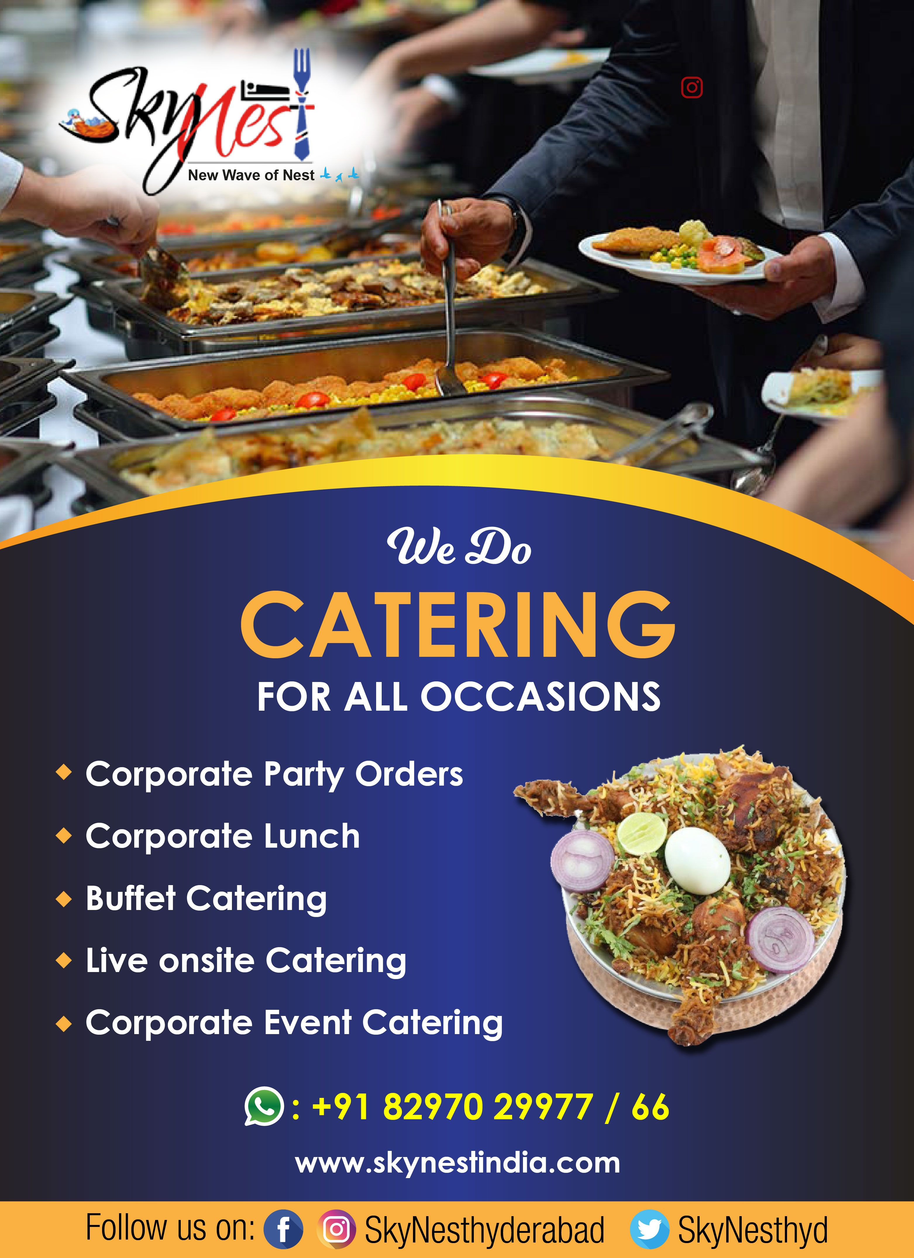 Outdoor catering services in Gachibowli | Corporate lunch Services in Gachibowli