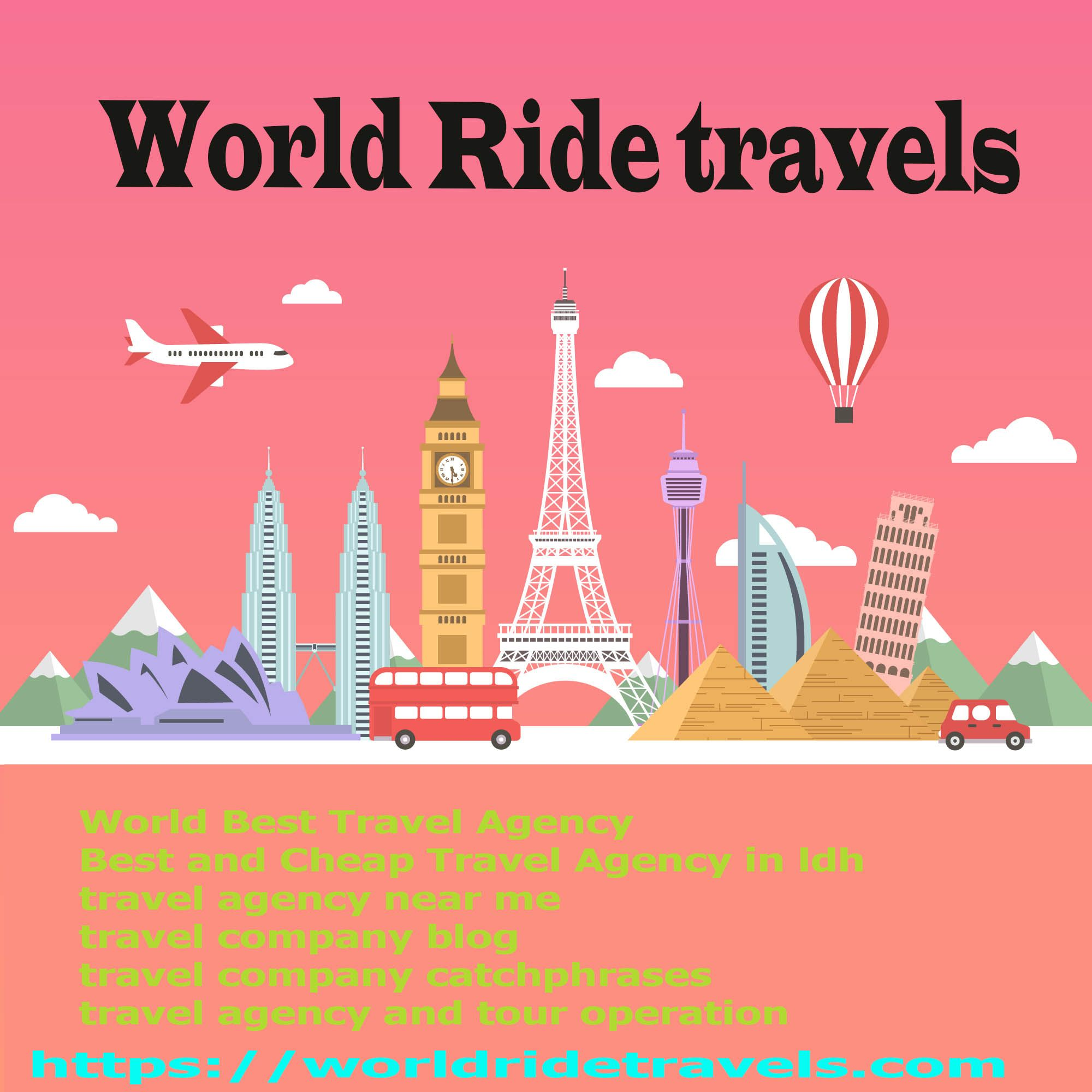 World Ride Travel agency is the world Best Travel Company in India.Provide Best Travels in Very Cheap Price. World ride travels Holidays is a well-establishedTravelManagementCompany In Ludhiana Punjab India. The Best and Lead Travel Agency in Ludhiana.