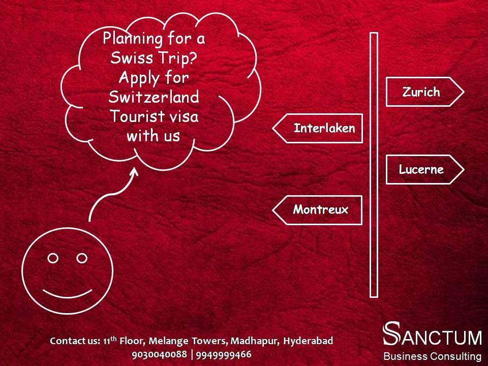 Apply for Switzerland Tourist Visa with Sanctum Consulting