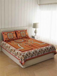 Buy Double Bed Sheet With Pillow Covers