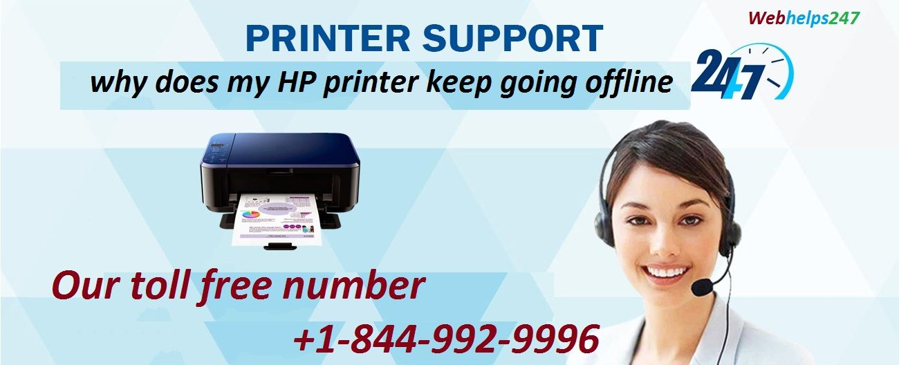 why is my HP printer keep going offline call us +1-844-992-9996