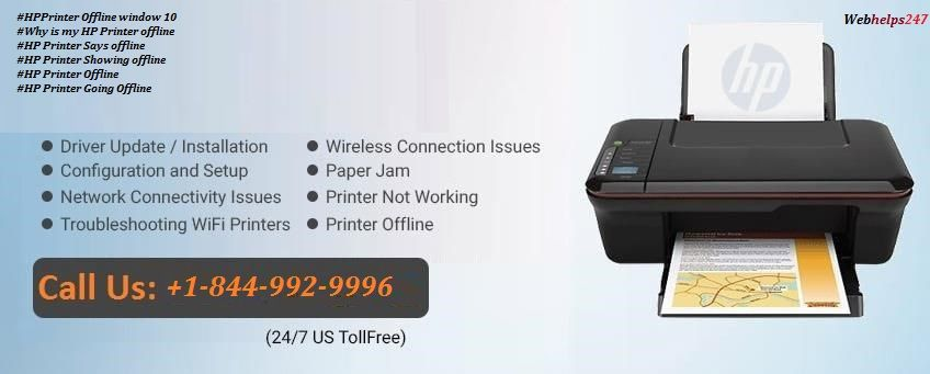 HP printer says offline & Not Response instantly call now +1-844-992-9996