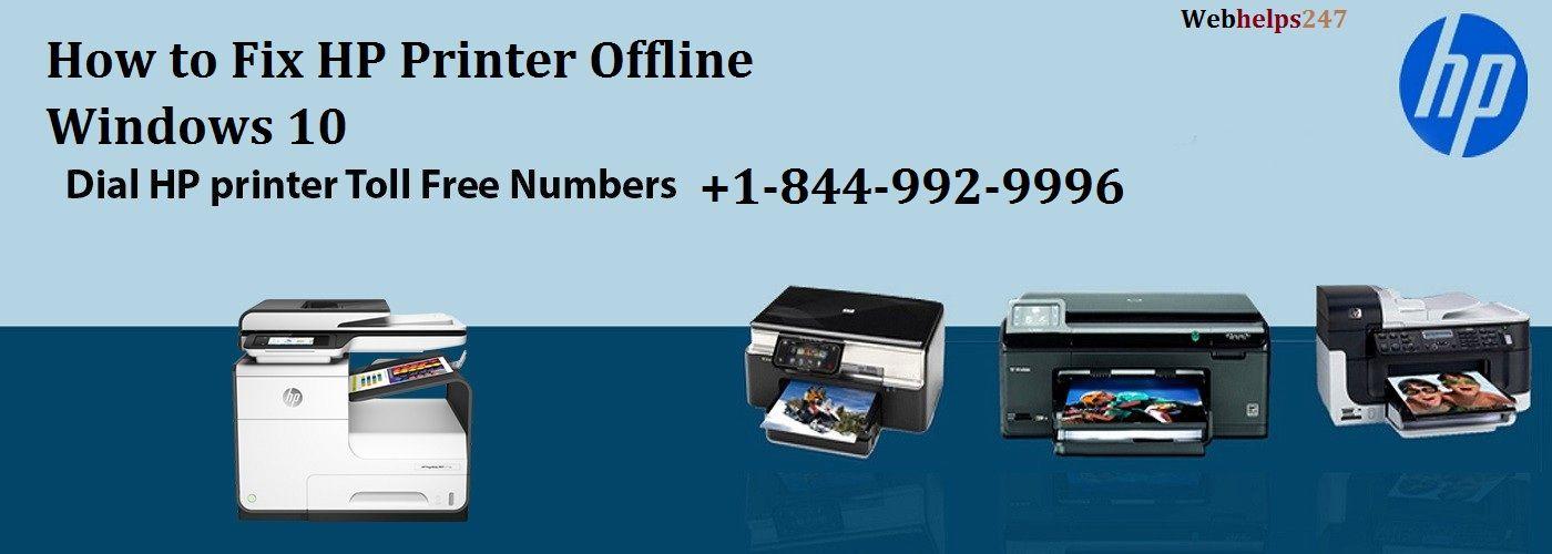 How to Fix HP Printer Offline Windows 10 call now @ +1-844-992-9996
