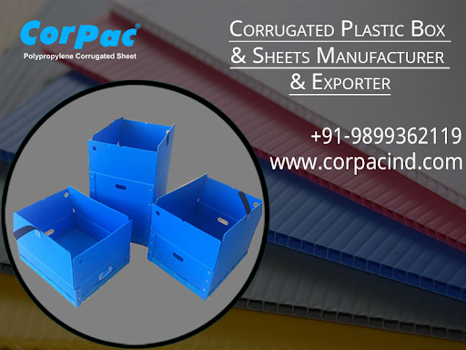 Corrugated Plastic Box & Sheets Manufacturer & Exporter