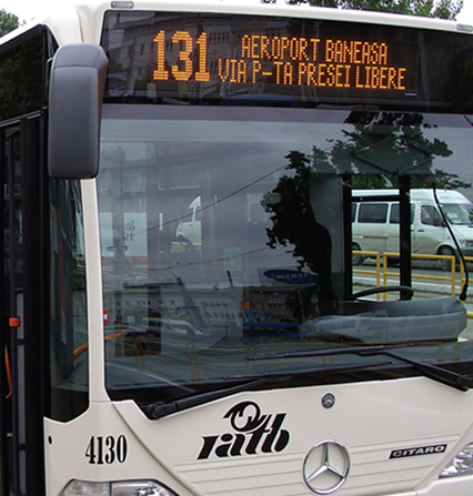 LED display board for private and public transport