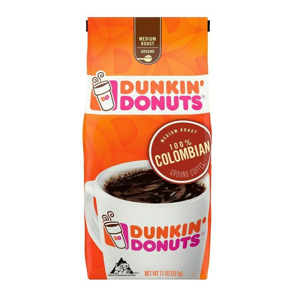 Dunkin Donuts 100% Colombian Ground Coffee 311g (11oz) (Box of 6)
