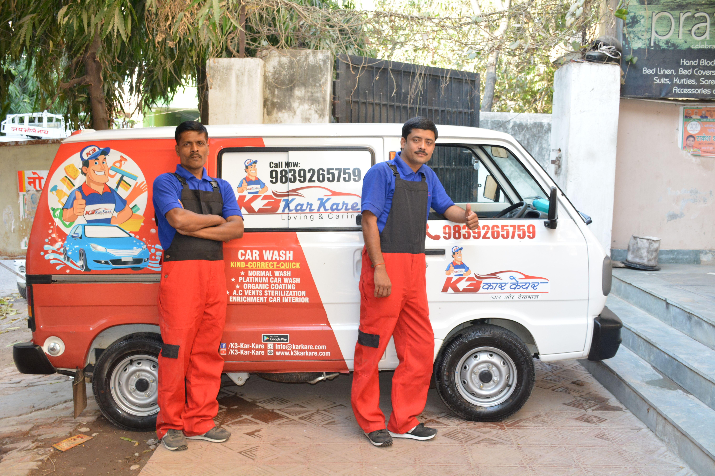 K3CARCARE -Steam car wash in Varanasi | Car wash at home in Varanasi