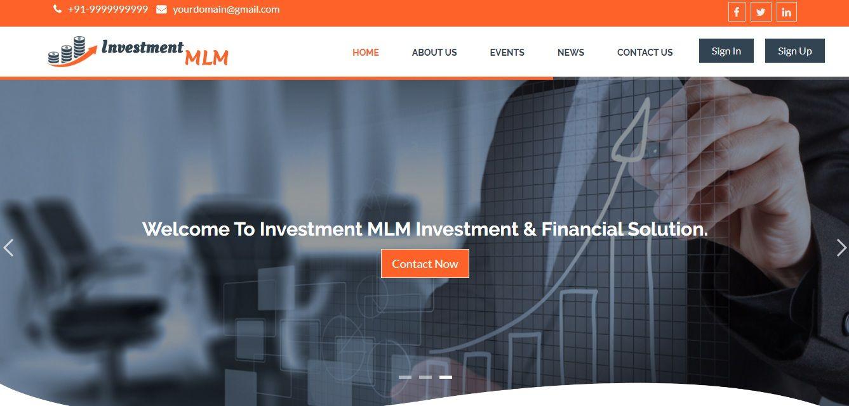Unilevel Investment Plan MLM Software