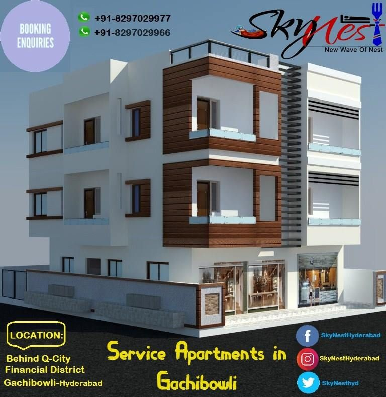 Book Luxury Service Apartment in Gachibowli | Holiday Homes | Skynest Service Apartments