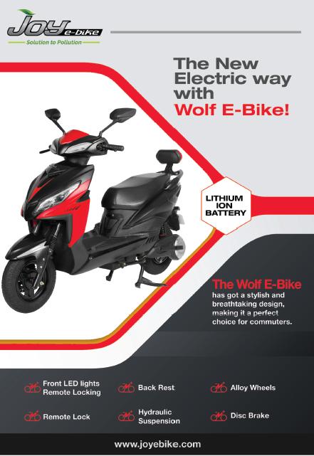 Buy Best Electric Scooter in India – Wolf Bike by Joy e-Bike