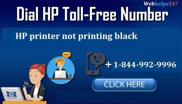 How to fix HP printer not printing black pages call now +1-844-992-9996