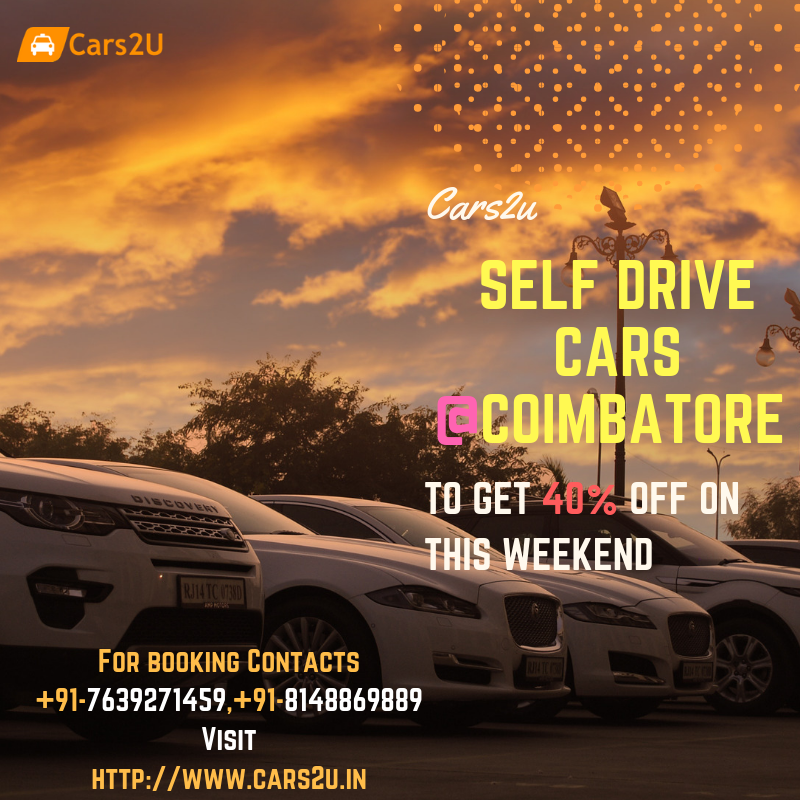 Amazing offers and deals on self drive cars in Coimbatore