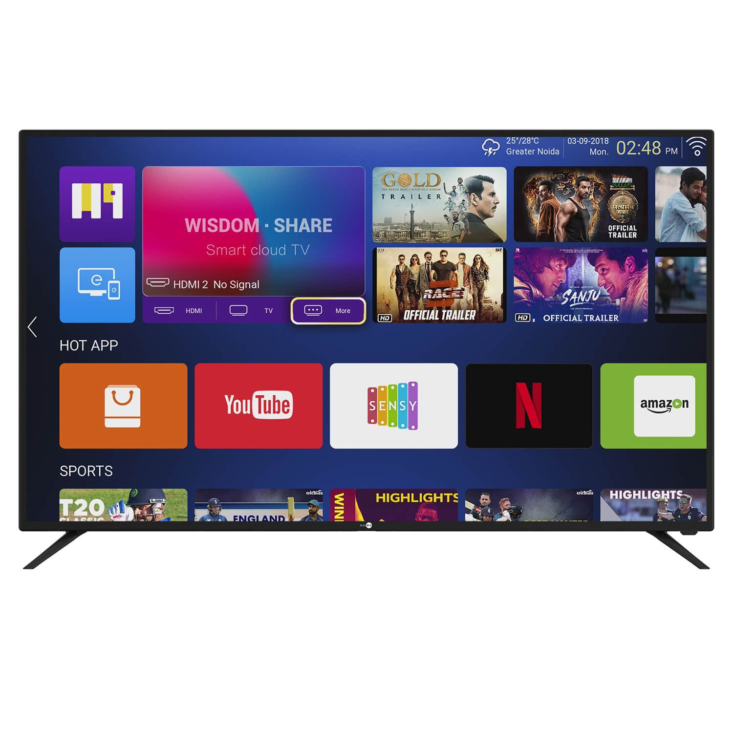 Daiwa 43 inch 4K UHD Quantum Luminit Smart LED TV Online