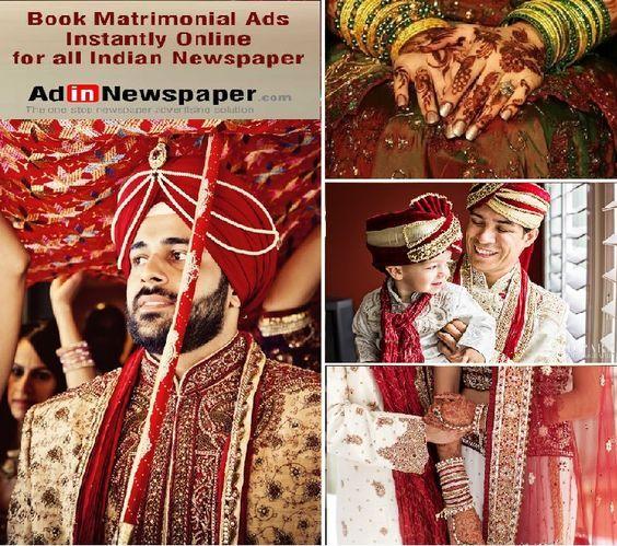 Book online Matrimonial Newspaper Ads in Delhi