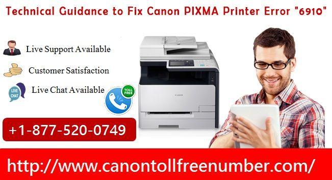 Fixed Canon Printer Error 6910 | Support 8775200749