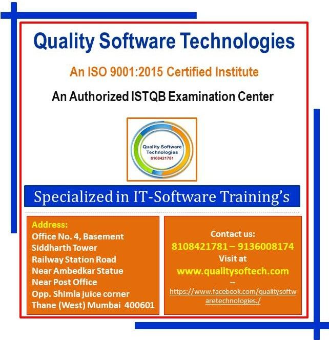 QUALITY SOFTWARE TECHNOLOGIES – TOP SOFTWARE TESTING INSTITUTE IN THANE
