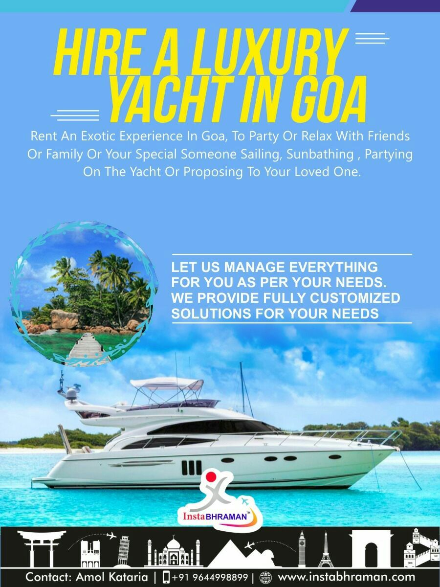 Hire A Luxury Yacht In Goa