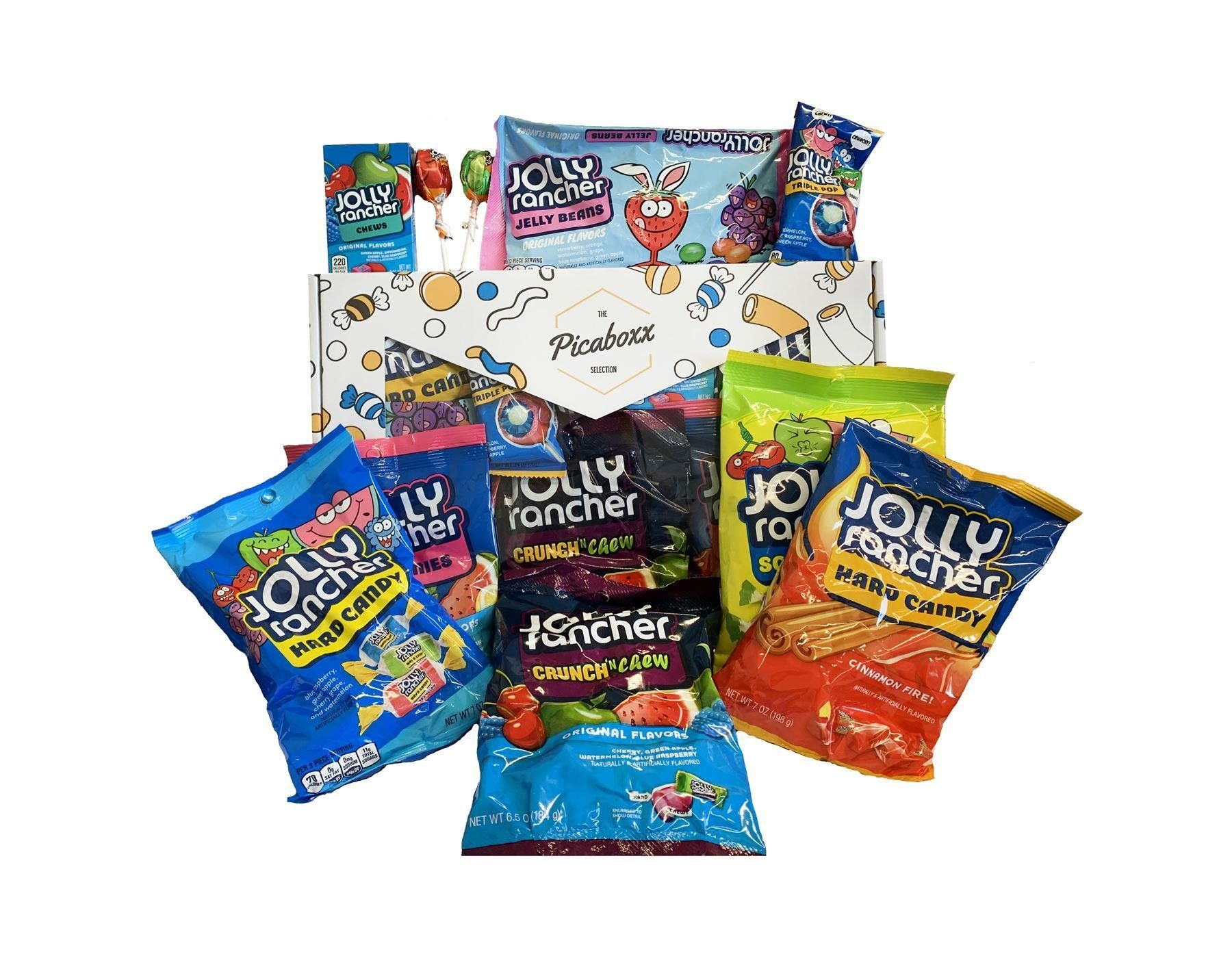 Picaboxx Jolly Rancher Large American Candy Selection Gift Box - 10 Products Mega Pack (Box of 6)