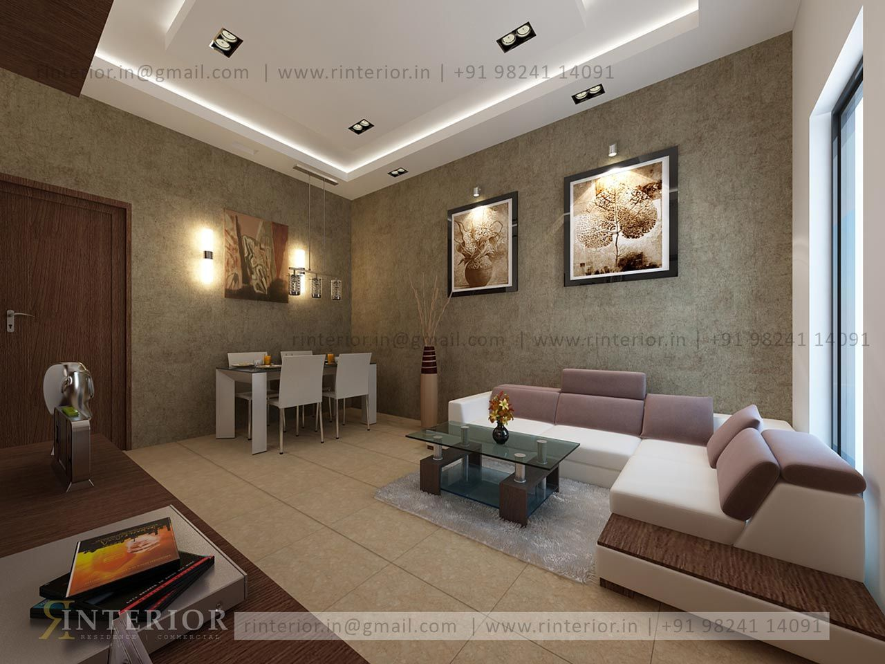 Beautifully House Design by Rinterior in Ahmedabad