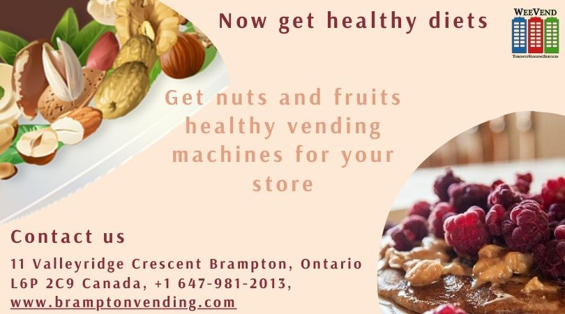 Get nuts and fruits healthy vending machines for your store
