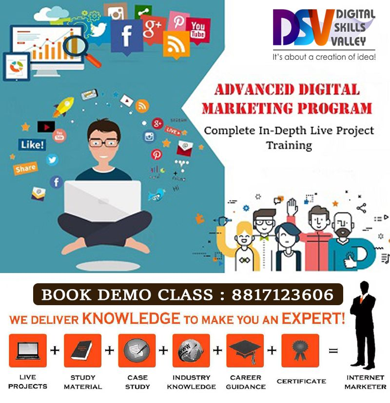 Digital Marketing training Institute, SEO Course, SMO & PPC Classes
