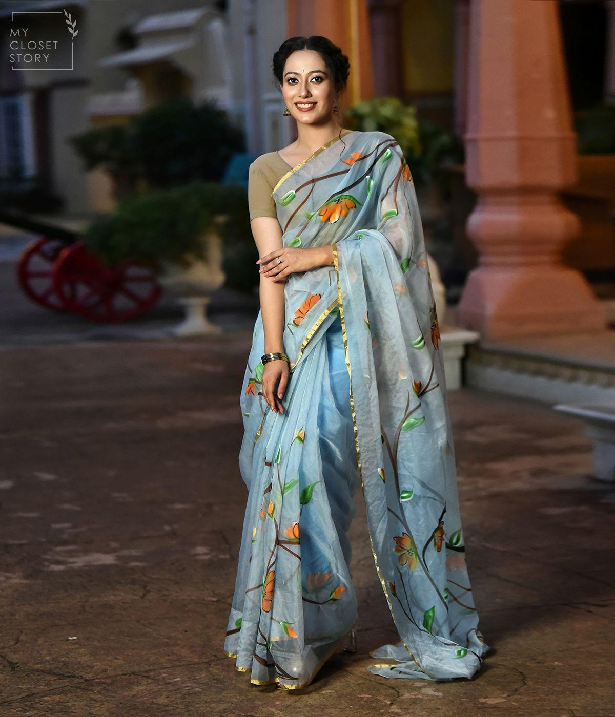 Buy Latest Organza Saree For Women Online [Latest Saree Designs 2021]