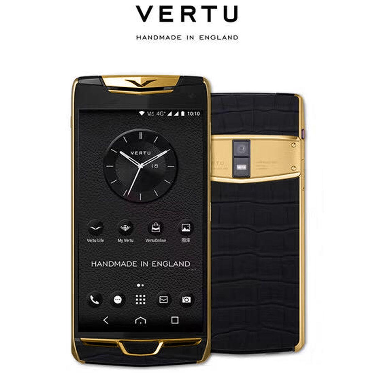 Vertu Constellation X Alligator Gold
