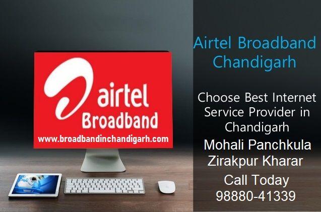 Airtel broadband service in Chandigarh,Mohali & panchkula in cities