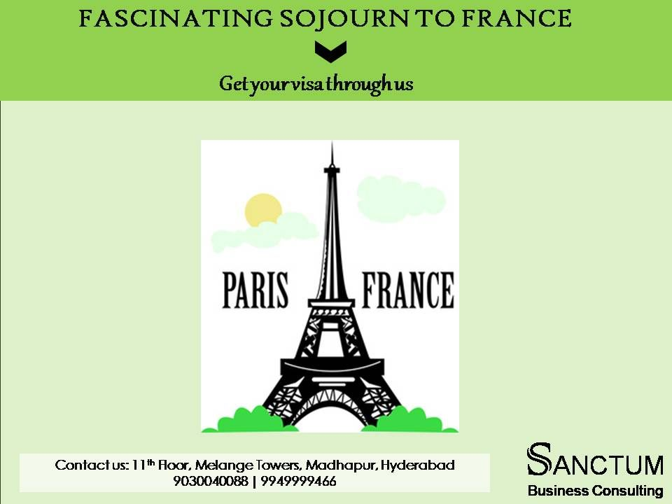 Apply for France Tourist Visa with Sanctum Consulting