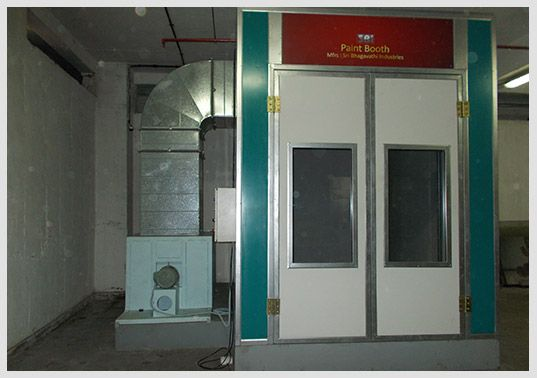 Two Wheeler Paint Booth
