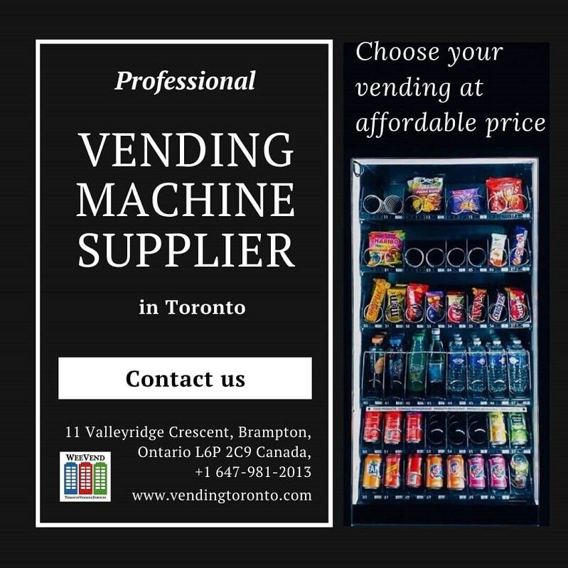 Looking for reliable vending machine suppliers in Toronto?