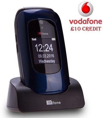 TTfone Lunar TT750 - Blue - Vodafone Pay As You Go with £10 Credit