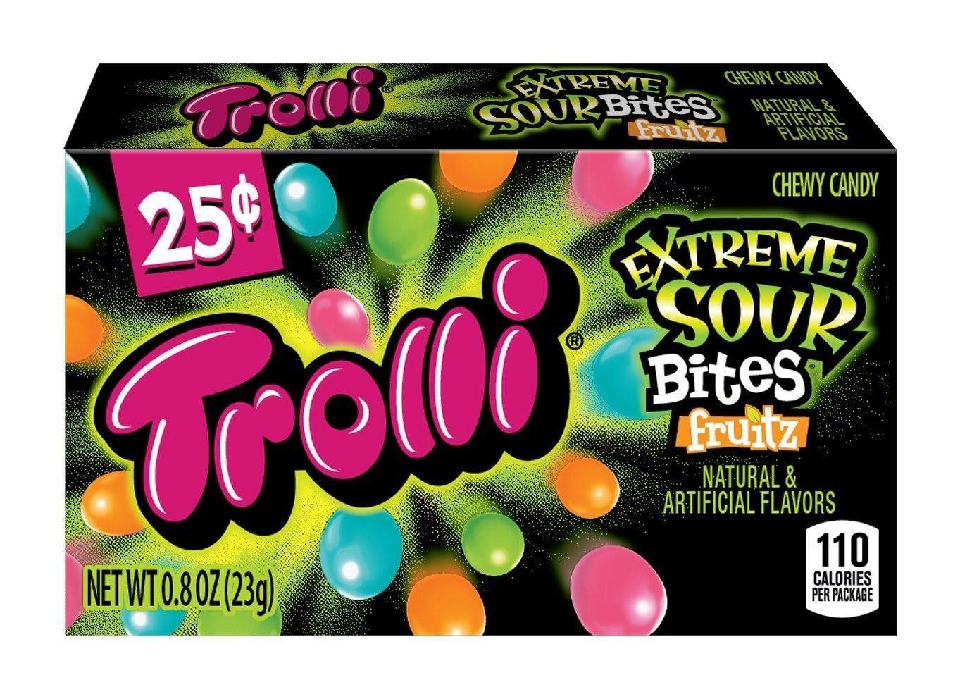 Trolli Extreme Sour Bites $0.25 23g (0.8oz) (Box of 24)