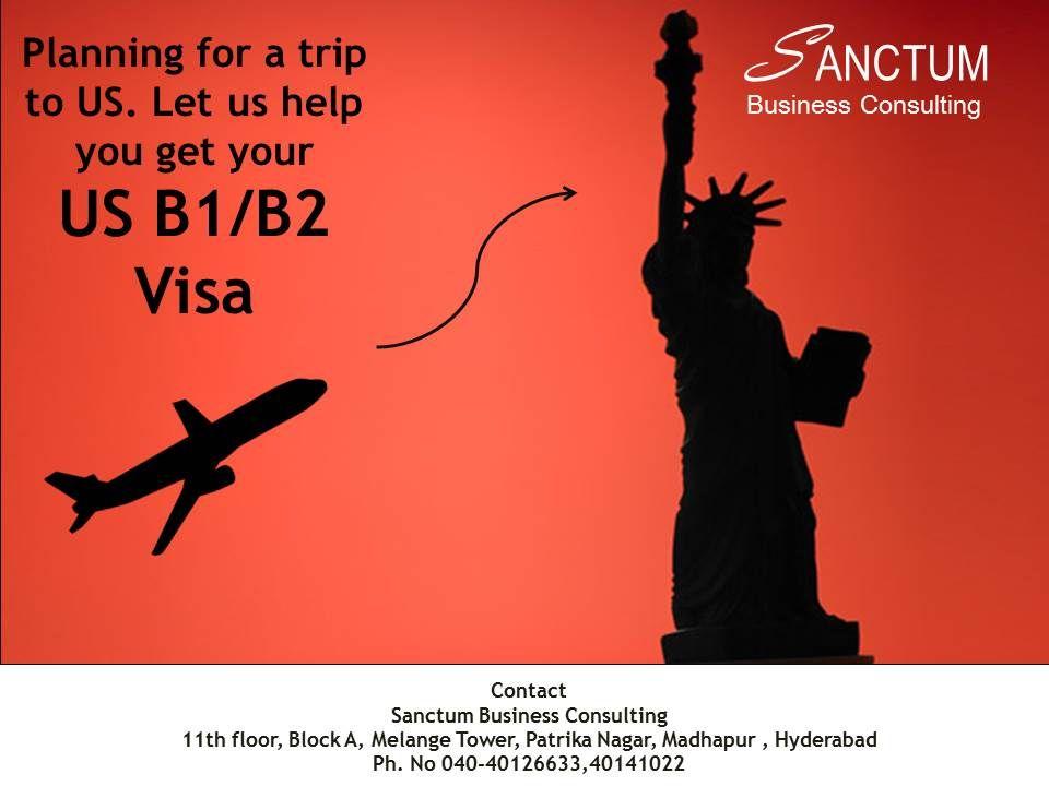 Get US B1/B2 Tourist visa with Sanctum Consulting