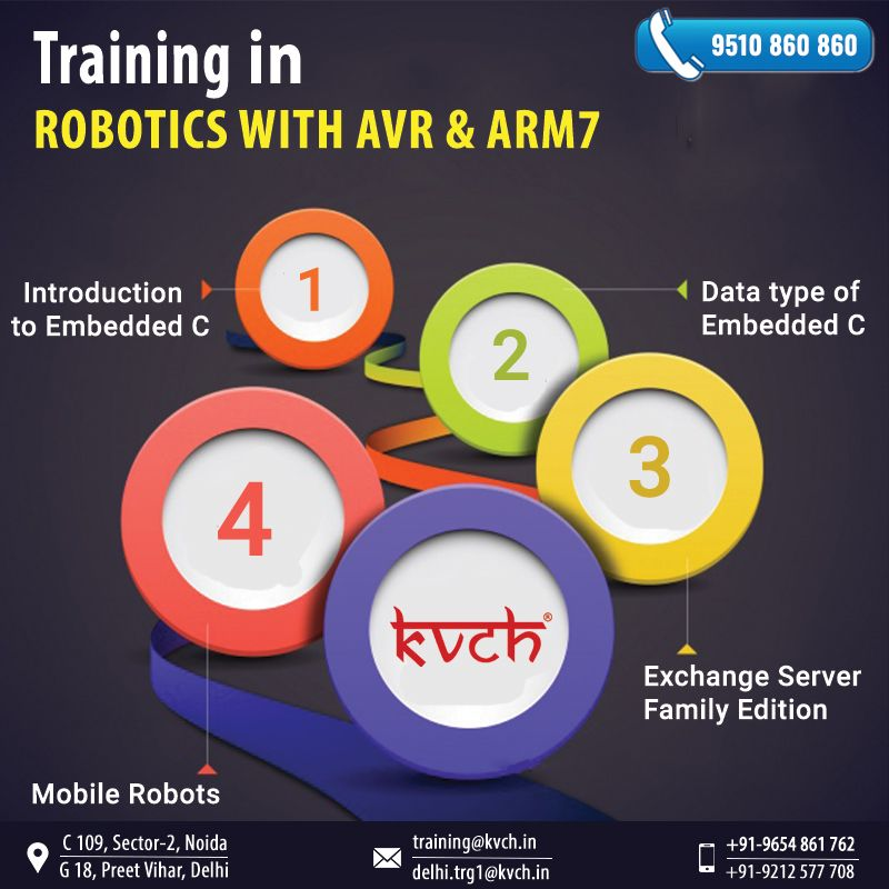 6 Weeks Robotics with AVR & ARM7 Summer Industrial Training in Noida