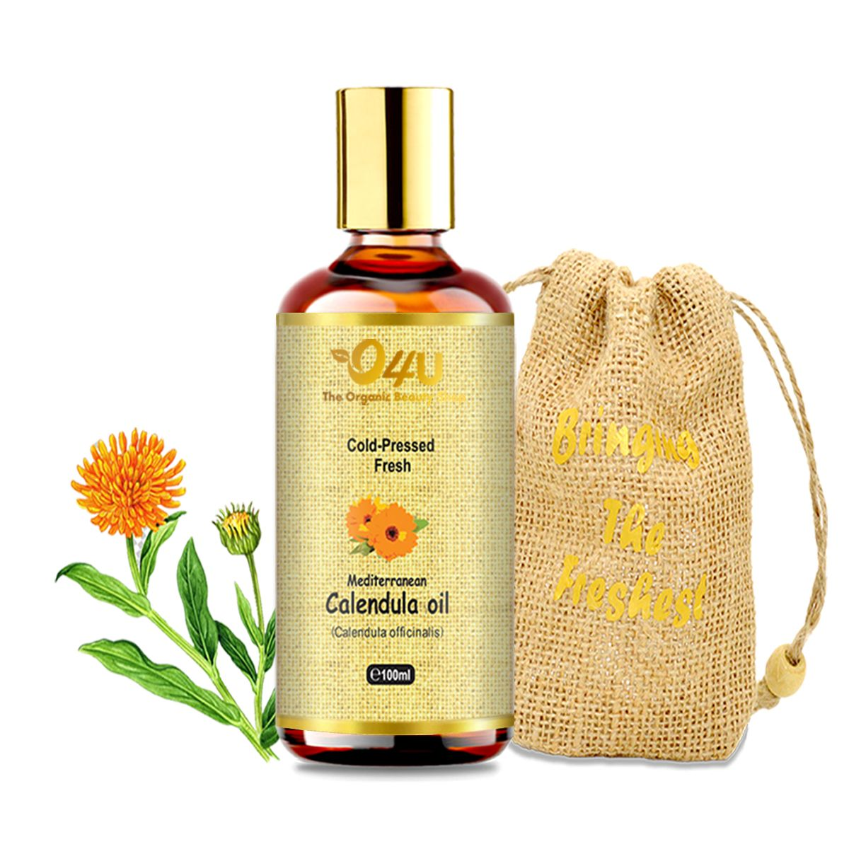 O4U  Calendula Cold Pressed Freshest Organic Oil for skin, pain-relief, and aftershave oil 100ML