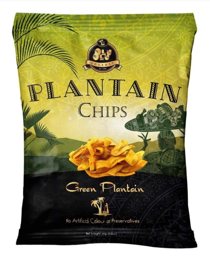 Olu Olu Green Plantain Chips With Salt 60g (2.11oz) (Box Of 24)