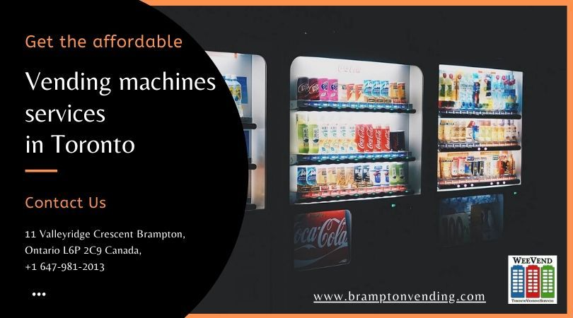 Looking for affordable vending machines services Toronto?